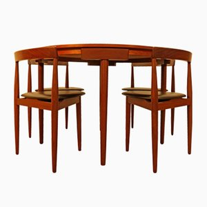Teak Dining Table & 4 Chairs by Hans Olsen for Frem Røjle, 1950s