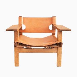 Spanish chair vintage di Borge Mogensen per Fredericia