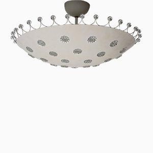Vintage Deckenlampe mit Blümchen von Emil Stejnar für Rupert Nikoll