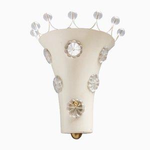 Lámpara de pared Floral vintage de Emil Stejnar para Rupert Nikoll
