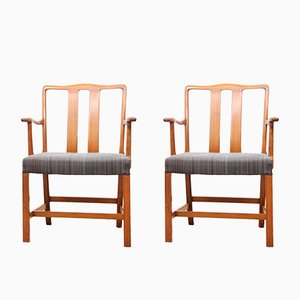 Scandinavian FH43 Armchairs by Ole Wanscher for Fritz Hansen, 1943, Set of 2