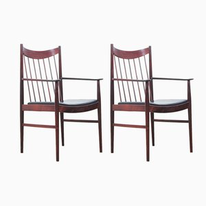 Scandinavian Rosewood Armchairs by Arne Vodder for Sibast, 1960s, Set of 2