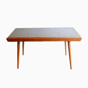 Mesa vintage de roble con tablero doble de formica