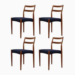 Dänische Vintage Anne Esszimmerstühle aus Teak von Johannes Andersen für Uldum, 4er Set