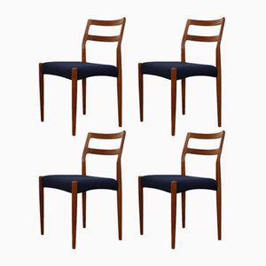 Vintage Danish Teak Anne Dining Chairs by Johannes Andersen for Uldum, Set of 4