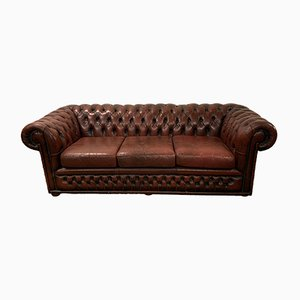 Vintage Chesterfield 3 Seater Sofa, 1980s
