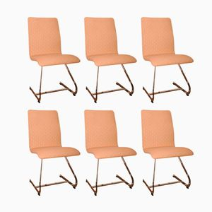 Cantilever Dining Chairs by Richard Young for Merrow Associates, 1970s, Set of 6