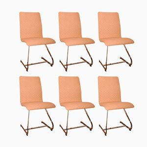Freischwinger Esszimmerstühle von Richard Young für Merrow Associates, 1970er, 6er Set