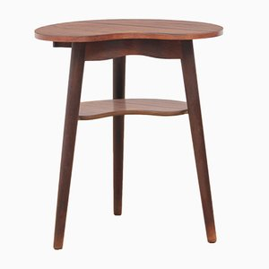 Small Scandinavian Rosewood Tripod Side Table, 1960s