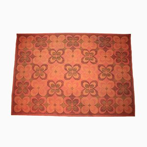 Tapis Floral Mid-Century, 1960s