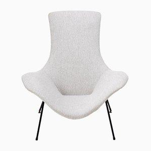 Grauer Vintage Sessel von Augusto Bozzi für Fratelli Saporiti