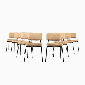Französische Mid-Century Stühle von Airborne, 8er Set