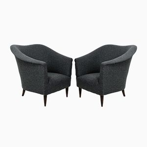 Mid-Century Italian Sculptural Armchairs, Set of 2