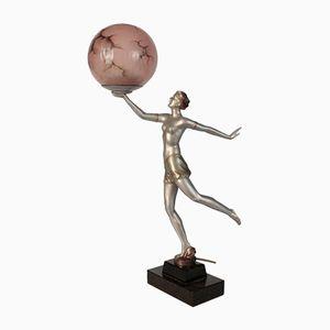 Deutsche Art Deco Figurinenlampe