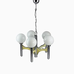 Lámpara de araña vintage grande de Gaetano Sciolari