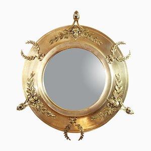 Espejo vintage de latón y bronce, años 20
