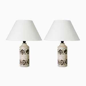 Ceramic Table Lamps by Aldo Londi for Bitossi, 1970s, Set of 2