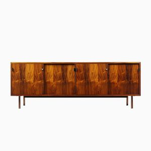 Rosewood Sideboard with Leather Handles by Florence Knoll for Knoll, 1950s