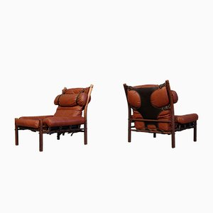 Inca Easy Chairs by Arne Norell, 1970s, Set of 2