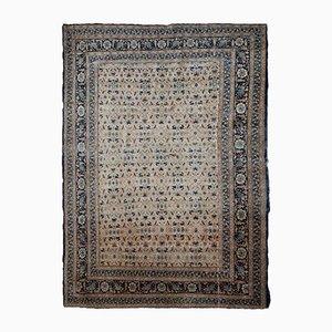 Alfombra del Oriente Medio antigua hecha a mano, década de 1880