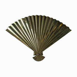 Mid-Century Italian Brass Fan Wall Light, 1970s