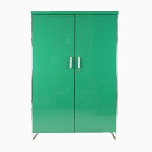 Armario Bauhaus verde de Robert Slezak, años 30