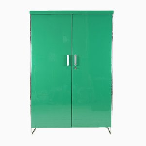 Green Bauhaus Wardrobe by Robert Slezak, 1930s