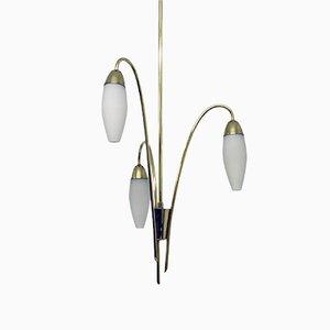 Lámpara de araña Mid-Century en forma de lirios de Rupert Nikoll