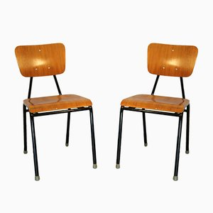 Vintage School Chairs, 1960s, Set of 2