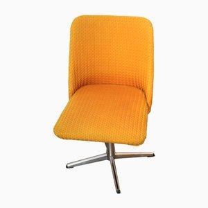 Vintage Orange Shell Swivel Chair, 1970s