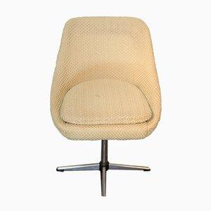 Vintage Beige Shell Swivel Chair