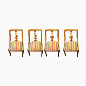 Vintage Wooden Gondola Chairs, 1950s, Set of 4