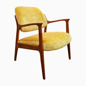 Mid-Century Yellow Armchair