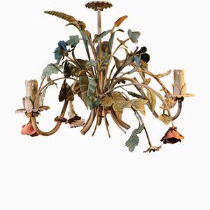 Floraler italienischer Vintage Kronleuchter von Fero Luce