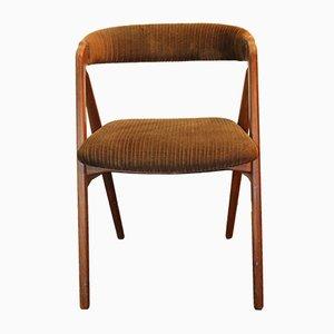 Silla auxiliar danesa vintage de madera