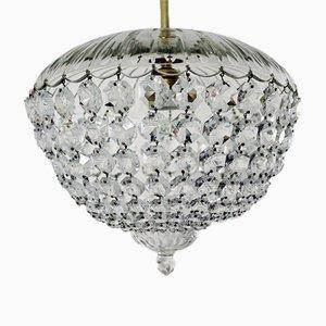 Lámpara de araña vienesa vintage de cristal