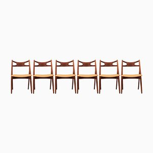 Chaises de Salle à Manger Sawbuck CH29 par Hans J. Wegner pour Carl Hansen & Søn, Set de 6
