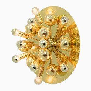 Aplique de pared Sputnik dorado, años 70