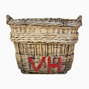 Antique Wicker Champagne Basket