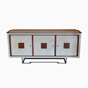 Italian Parchment and Oak Sideboard, 1960s