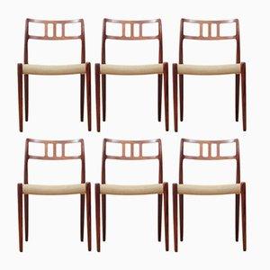 Modell 79 Stühle aus Rio Palisander von Niels Otto Møller, 1960er, 6er Set