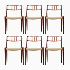 Rio Rosewood Model 79 Chairs by Niels Otto Møller, 1960s, Set of 6