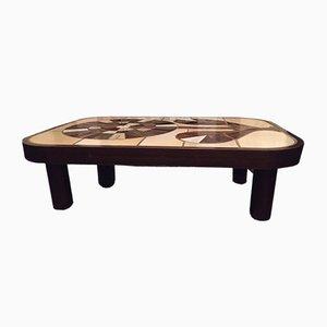 Tavolino da caffè Vallauris vintage di Roger Capron