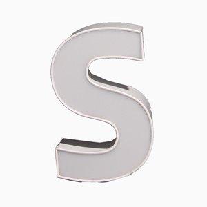 Vintage White Letter S, 1980s