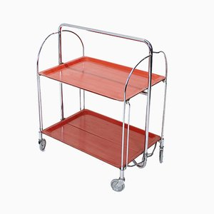 Chromed Metal Folding Trolley from Bremshey & Co., 1960s