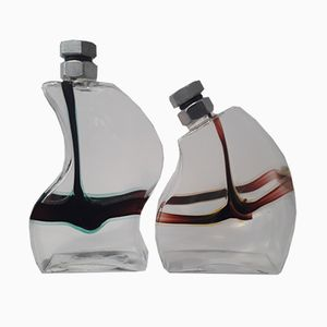 Macho Decanter by Kjell Engman for Kosta Boda, 1980s, Set of 2