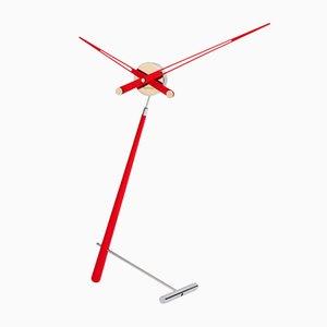 Puntero L Red Clock by Jose Maria Reina for NOMON