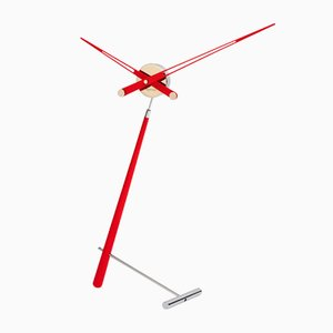 Puntero L Red Clock by Jose Maria Reina for NOMON