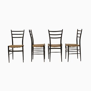 Vintage Model Spinetto Chairs from Chiavari, 1950s, Set of 4