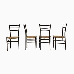 Vintage Modell Spinetto Stühle von Chiavari, 1950er, 4er Set